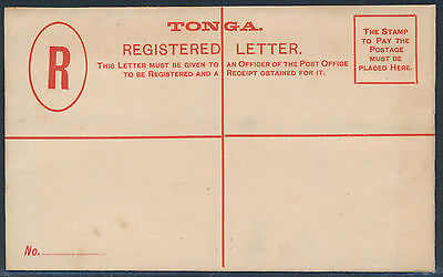 Tonga 4 P. Registered Letter Vordruck ca. 1920 ?? (3780)