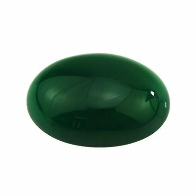 LARGE 30x22mm OVAL CABOCHON-CUT NATURAL AFRICAN DEEP FOREST-GREEN ONYX GEMSTONE