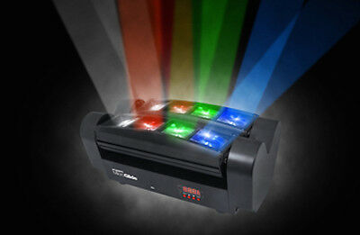 Kam MicroGlide 8 x 3W RGBW LED Multicolour Beam Effect Disco DJ Light *Torn Box*