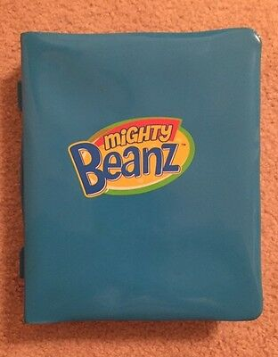 Lot Of 14 Mighty Beanz Beans with Blue Plastic Case (Holds 50)