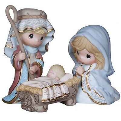 Precious Moments Nativity Set of 3, 'Come Let Us Adore Him', New In Box, 131062