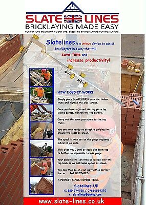 Slatelines Builders Profiles / Bricklaying tool
