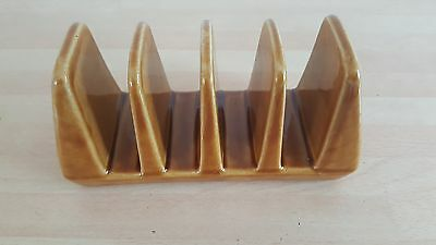 Vintage Toast Rack Eastgate Brown Pottery 4 Slice Toast Rack C. 1970's Ex Cond.