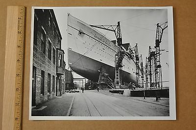 Canadian Pacific Empress Of Britain (1931-40) Construction At Clydebank
