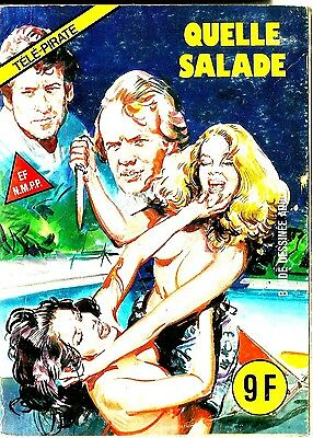 French 1970's Illustrated Erotic Comic Quelle Salade #9 Vg