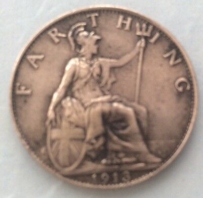 1913 King George V Farthing