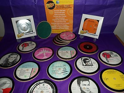 CULTURE CLUB Vinyl Record Drinks Coaster Original Vintage Retro Present