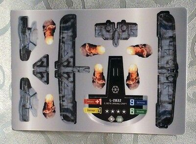 Star Wars Wizkids Pocketmodel L2832 Trade Federation Landing Craft Vehicle - 16