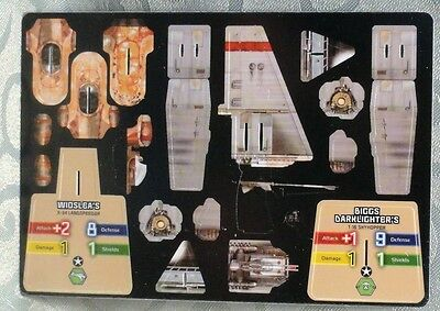 Star Wars Wizkids Pocketmodel Biggs Darklighter Skyhopper & Wioslea Landspeeder