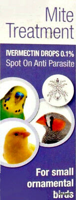 Ivermectin 0.1% Small Birds mites and feather lice in small ornamental birds