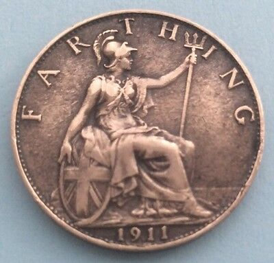 1911 King George V Farthing
