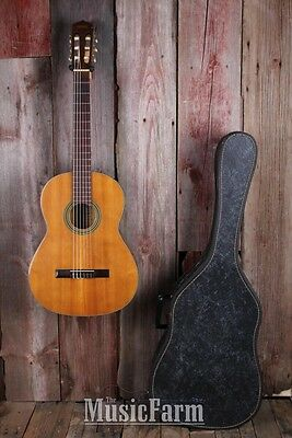 Yamaha Vintage 1960s Nippon Gakki No G 60 Classical Acoustic Guitar with Case