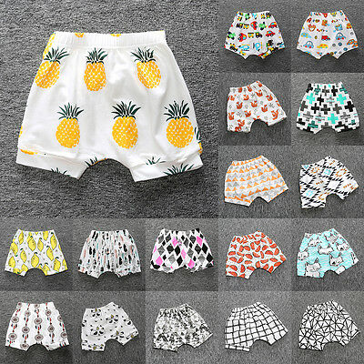 Kids Baby Boys Girls Cotton Bottom Infant Bloomer Briefs Diaper Cover Panties