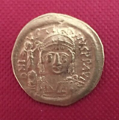 Byzantine Empire, Genuine gold solidus of Justin II AD 565-578
