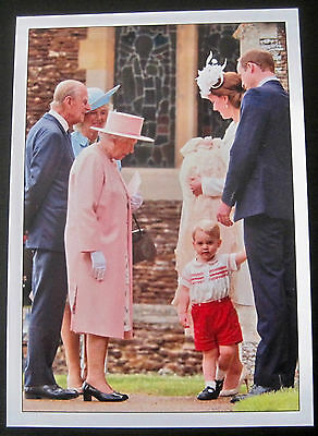 Prince George's Christening with Members of The Royal Family Post Card