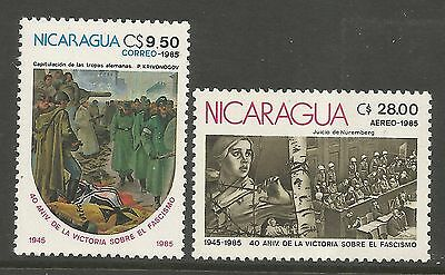 NICARAGUA. 1985. End of World War II Set. SG: 2679/80. Mint Never Hinged.