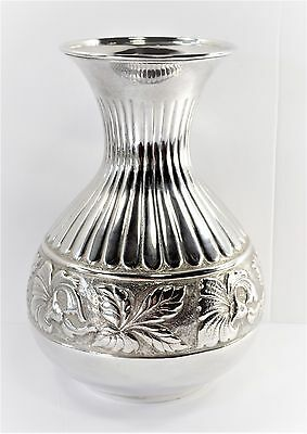 Fantastic Large Flower Vase - Sterling Silver by Unknown Maker -No Monogram(L1)