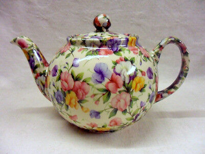 ditsy sweetpea design 2 cup teapot by Heron Cross Pottery