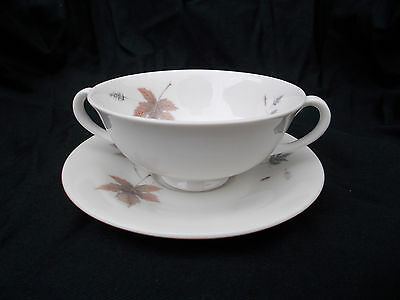 Royal Doulton TUMBLING LEAVES Soup Cup and Saucer
