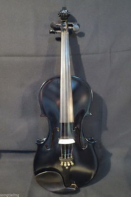 Nice Black colors electric & acoustic violin 4/4 #8567