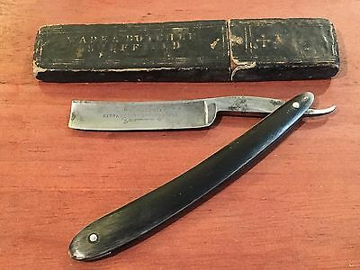 """Antique Wade & Butcher The Celebrated Extra Hollow Ground Straight Razor 5/8"""""""