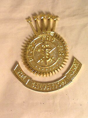 Salvation Army -BRASS CREST - POLISHED GOLD