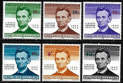 RWANDA 1965 Old Mint Stamps - Abraham Lincoln Symbol of Freedom & Human Right