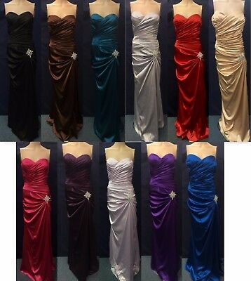 NEW Womens Cinderella Divine 8530 Strapless Bridal Satin Formal Gown Party Dress
