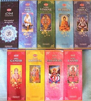 20 - 200 Sticks Incense CHOOSE SCENT or MIXED Bulk Floral Indian HEM HEX Bulk
