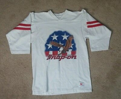 Vintage 80s Snap On Tools Jersey T Shirt Eagle Motorcycle Harley S/M 1988