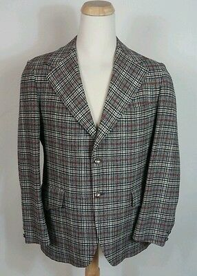 Vtg Mens Wool Pendleton Blazer Sportscoat Hunting Golf Christmas 44 XL Plaid