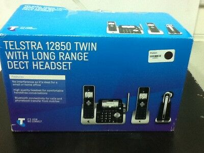 Telstra 12850 Twin with Long range DECT handset - NEW