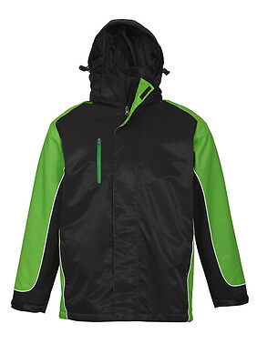 New UNISEX NITRO JACKET - BLACK/GREEN/WHITE