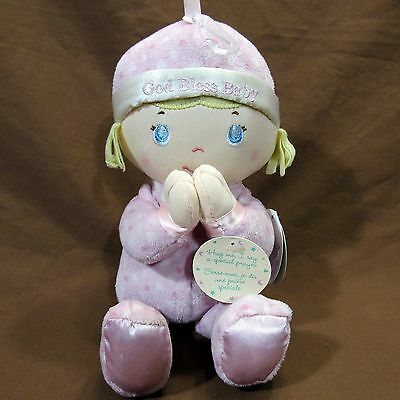 Blessed Friends God Bless Baby Praying Plush Girl Lovie Now I Lay Me Down