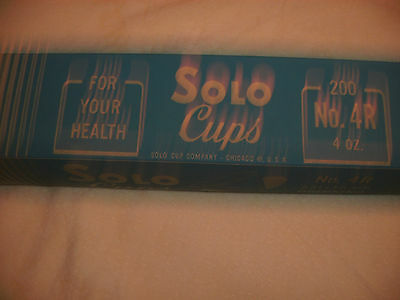 Vintage NOS 1950s paper Solo cups No. 4R 200 count 4oz cups FREE SHIPPING