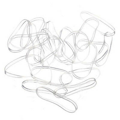 200PC Clear Rubber Hairband Rope Ponytail Holder Elastic Women Hair Band Ties LX