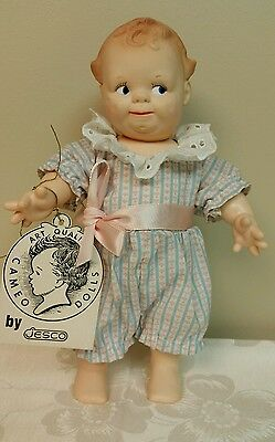 """1964 Cameo Scootles Doll 11"""" Clothing by Shirley Pepys, Original Tag by Jesco"""