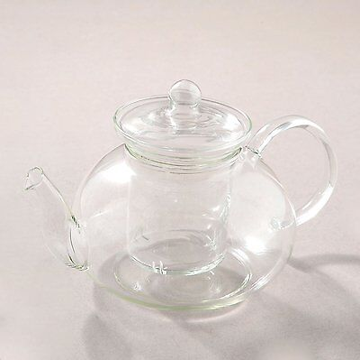 Happy Sales Teapot with Glass Strainer, 34 oz.