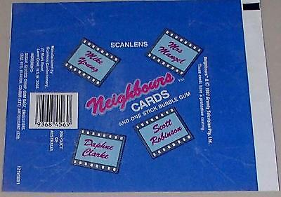 Scanlens Neighbours Trading Card Wax Wrapper Vintage 1987