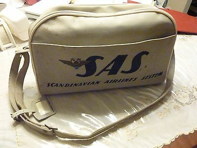 Vintage Scandinavian Airline System SAS Travel Carry-on Bag, issued mid-1960s,