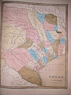 1838 [1842] T G Bradford: Map of Texas as a Republic