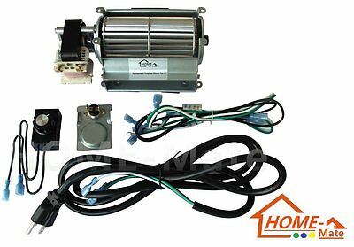 Hongso GFK21, FK21 Replacement Fireplace Blower Fan KIT for Heatilator, Vermont