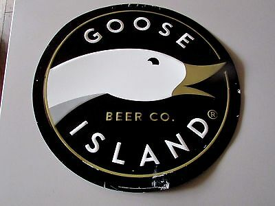 Goose Island Beer Company Chicago Urban Wheat Craft Metal Tin Tacker Beer Sign