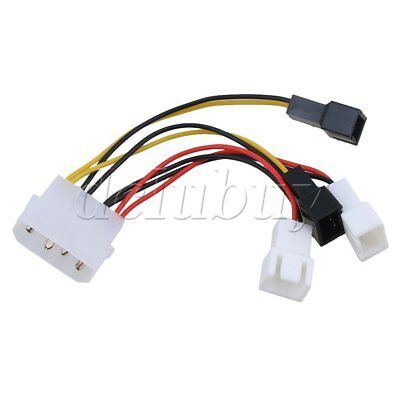 New PC Fan 4pin Convert to 2/3pin 12V 5V Cable Splitter Connector 90mm length
