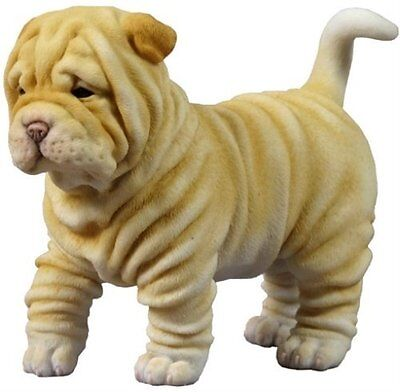 "4.75"" Shar Pei Puppy Dog Statue Figure Figurine Pet Collectible Animal"