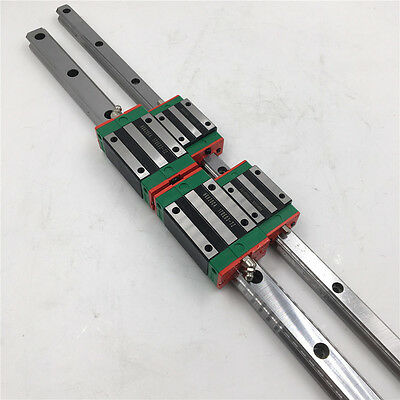HGR25 Linear Rail Guide 1000mm HIWIN+ 2pc HGH25CA Rail Block for CNC Router Mill