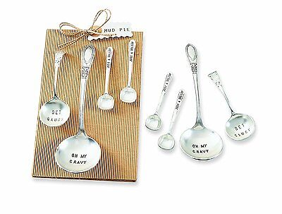 Mud Pie Ladle Set of 4, Silver