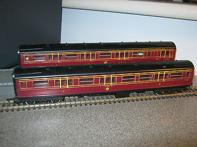 2 Triang OO Gauge LMS Maroon Caledonian Coaches