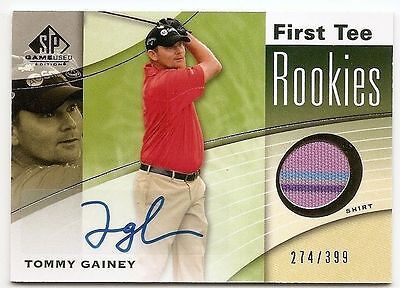 2012 SP GAME USED FIRST TEE AUTOGRAPH SHIRT RC #41 Tommy Gainey #274/399
