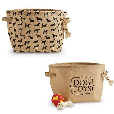 Mud Pie Dog Toy Baskets Set of 2